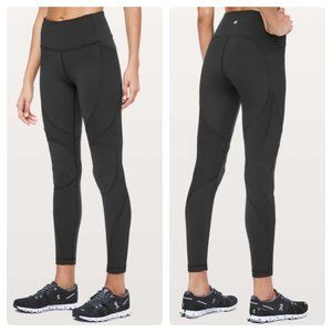 "Lululemon On Repeat 7/8 Tight 28"" Black"